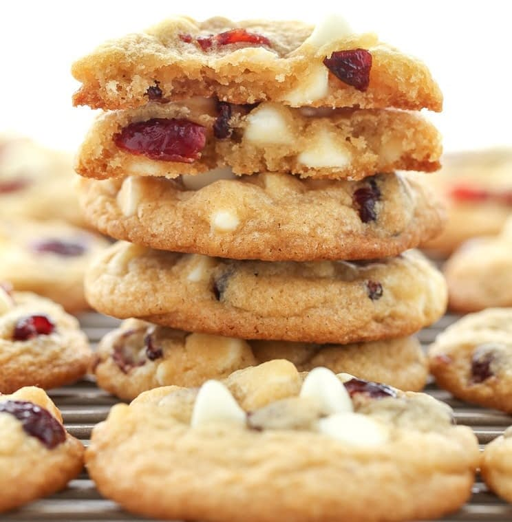 Soft-Baked White Chocolate Chip Cranberry Cookies