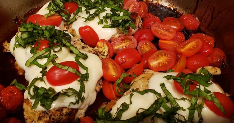 Balsamic Glazed Caprese Chicken
